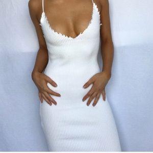 Dresses & Skirts - NWOT Thick rubber white bodycon mini dress